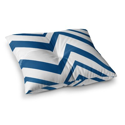 NL Designs ZigZag Square Floor Pillow Color: Blue, Size: 26 x 26