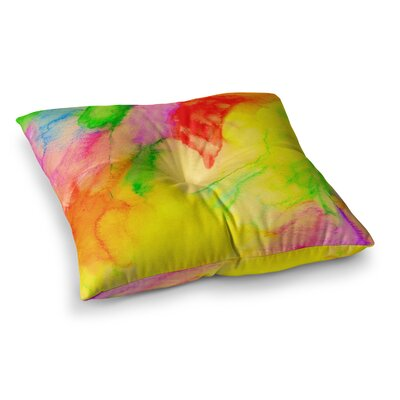 Sreetama Ray Chemical Lovestory Watercolor Square Floor Pillow Size: 26 x 26