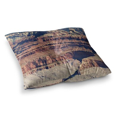 Sylvia Coomes Grand Canyon Landscape 1 Square Floor Pillow Size: 23 x 23