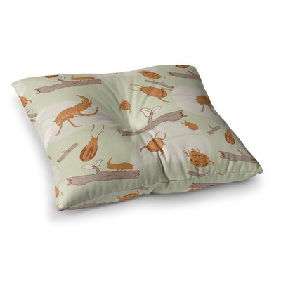 Stephanie Vaeth Beetles Nature Square Floor Pillow Size: 23 x 23
