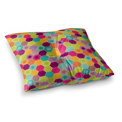 Nicole Ketchum Arabian Bee Square Floor Pillow Size: 23 x 23