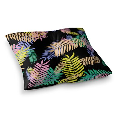 Vasare Nar Tropical Palm 90s Art Deco Floral Square Floor Pillow Size: 23 x 23