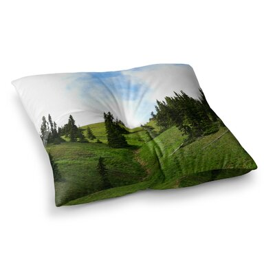 Robin Dickinson Going to the Mountains Square Floor Pillow Size: 26 x 26