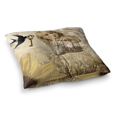 Suzanne Carter Key Square Floor Pillow Size: 23 x 23