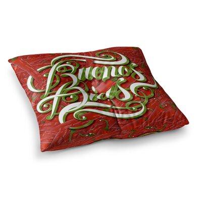 Roberlan Buenos Dias Good Day Square Floor Pillow Size: 26 x 26
