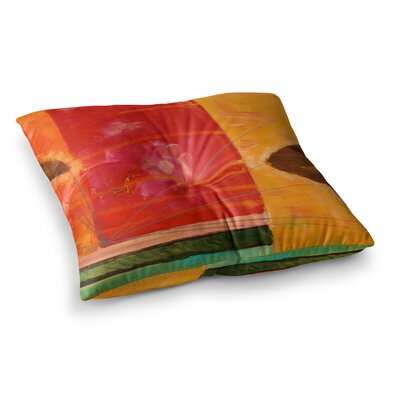 Nathan Gibbs Destination: She Surfs Floral Square Floor Pillow Size: 26 x 26
