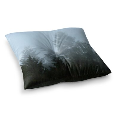 Robin Dickinson Welcome to Earth Mist Forest Square Floor Pillow Size: 23 x 23