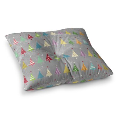 Snap Studio Crazy Trees Frost Square Floor Pillow Size: 26 x 26
