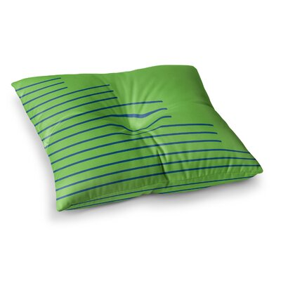 Trebam Stepenice V.3 Pattern Square Floor Pillow Size: 26 x 26
