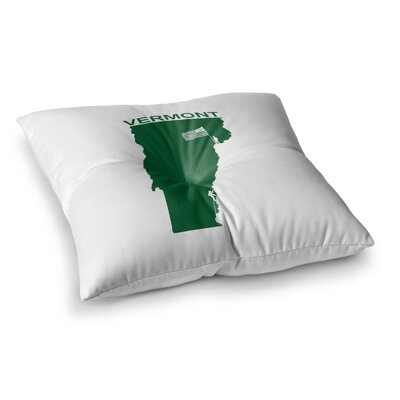 BarmalisiRTB Vermont Digital Square Floor Pillow Size: 26 x 26