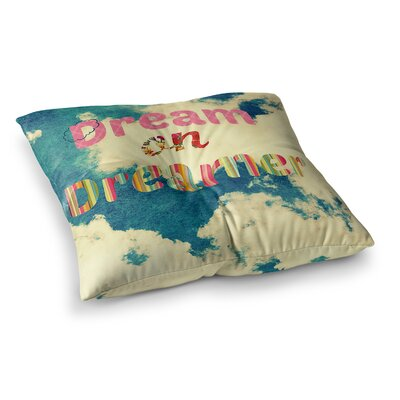 Robin Dickinson Dream on Clouds Square Floor Pillow Size: 23 x 23