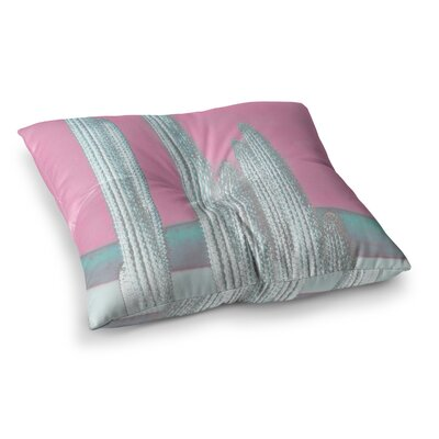 Suzanne Carter Cactus Digital Square Floor Pillow Size: 26 x 26, Color: Pink/Brown