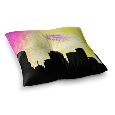 Infinite Spray Art Skylined Square Floor Pillow Size: 23 x 23
