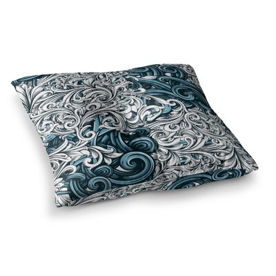Nick Atkinson Celtic Floral II Abstract Square Floor Pillow Size: 26 x 26