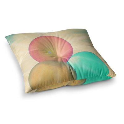 Robin Dickinson Balloons Clouds Square Floor Pillow Size: 23 x 23