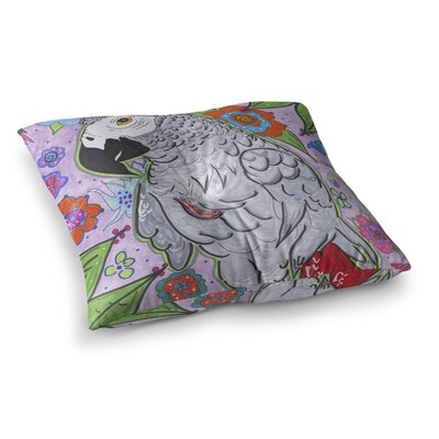 Rebecca Fisher Rio Parrot Square Floor Pillow Size: 23 x 23