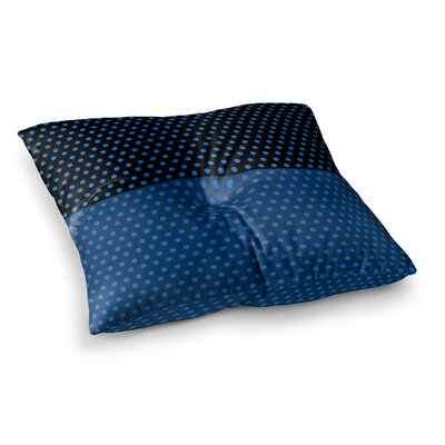 Trebam Tufna Digital Square Floor Pillow Size: 26 x 26, Color: Black/Blue
