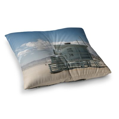 Juan Paolo No Lifeguard on Duty Square Floor Pillow Size: 23 x 23