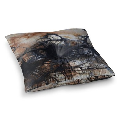 Steve Dix Looking for Water Square Floor Pillow Size: 26 x 26