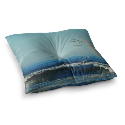 Robin Dickinson Ill Follow Coastal Square Floor Pillow Size: 26 x 26