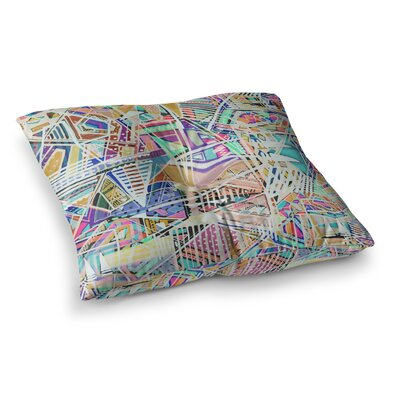 Vasare Nar Abstract Geometric Playground Square Floor Pillow Size: 26 x 26