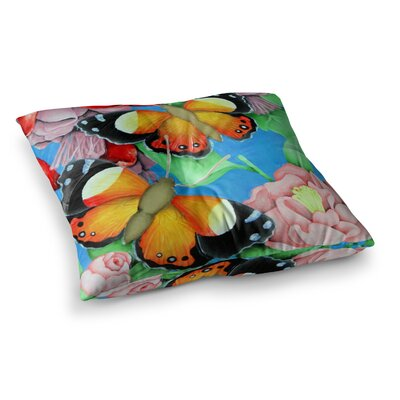 Vinny Thompson Admiral Tropical Square Floor Pillow Size: 26 x 26