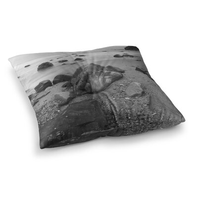 Nick Nareshni Water Moving Around Rocks Square Floor Pillow Size: 26 x 26