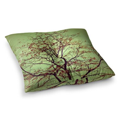 Sylvia Coomes Modern Fall Tree Square Floor Pillow Size: 23 x 23