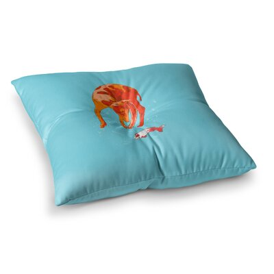 BarmalisiRTB Koi Cat Square Floor Pillow Size: 26 x 26