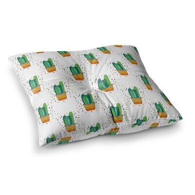 Vasare Nar Cacti Cactus Fiesta Art Deco Sage Square Floor Pillow Size: 26 x 26
