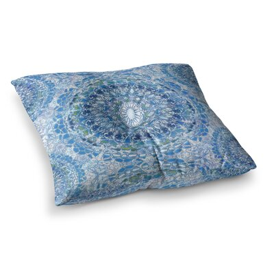 Nina May Blood Lace Mandalas Mixed Media Square Floor Pillow Size: 23 x 23, Color: Blue