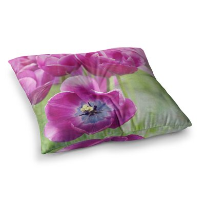 Sylvia Cook Tulips Photography Square Floor Pillow Size: 26 x 26