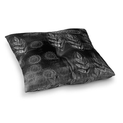 Marianna Tankelevich Summer Night Lavender Square Floor Pillow Size: 26 x 26, Color: Black