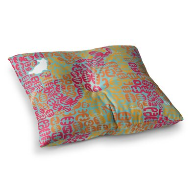 Theresa Giolzetti Oliver Square Floor Pillow Size: 23 x 23, Color: Magenta