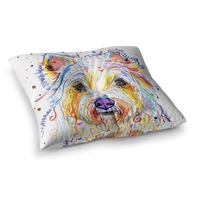 Rebecca Fischer Bella Scottish Terrier Square Floor Pillow Size: 23 x 23