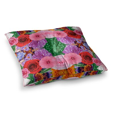 Vasare Nar Kaleidoscopic Flowers Square Floor Pillow Size: 26 x 26