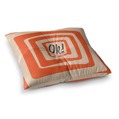 Roberlan So Ok Vector Square Floor Pillow Size: 23 x 23
