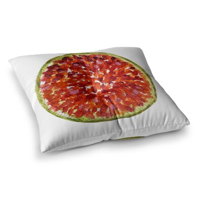 Theresa Giolzetti Passion Fruit Square Floor Pillow Size: 23 x 23