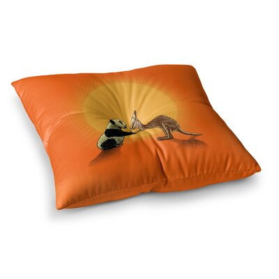 BarmalisiRTB Snatch Digital Square Floor Pillow Size: 23 x 23