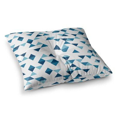 Project M Triangles Square Floor Pillow Size: 26 x 26, Color: Blue/Navy