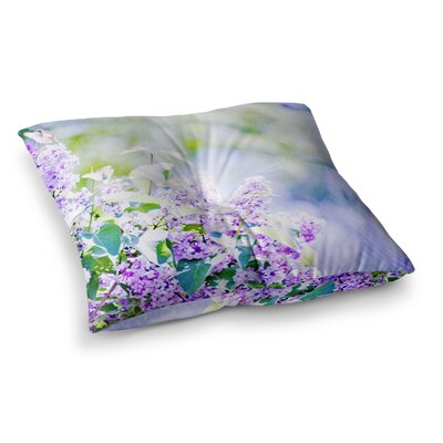 Sylvia Coomes Hazy Flowers Nature Square Floor Pillow Size: 26 x 26