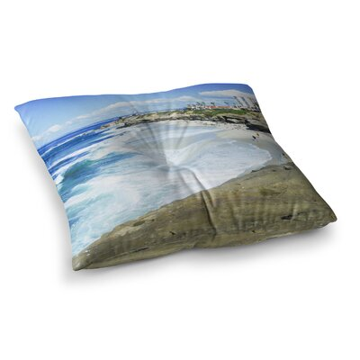 Nick Nareshni Beach Playground Square Floor Pillow Size: 23 x 23
