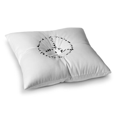 BarmalisiRTB Peace Digital Square Floor Pillow Size: 23 x 23
