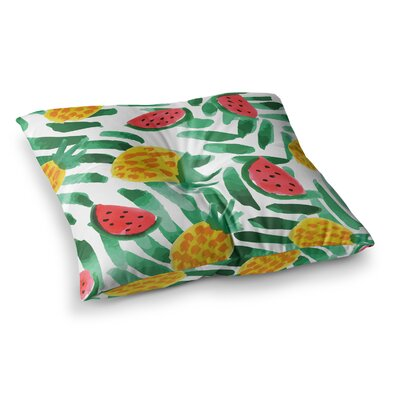 Yenty Jap Tropical Fruit Haven Square Floor Pillow Size: 26 x 26