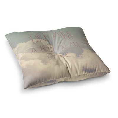 Rachel Burbee Dream of Me Tan Square Floor Pillow Size: 26 x 26