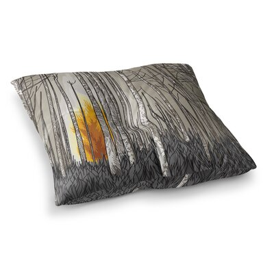 Sam Posnick Smokey Forest Fire Square Floor Pillow Size: 23 x 23