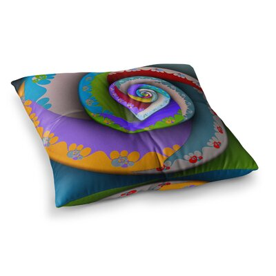 Michael Sussna Flor Essence Spiral Square Floor Pillow Size: 26 x 26