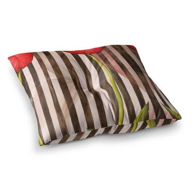 S Seema Z Classic rose Stripes Square Floor Pillow Size: 26 x 26