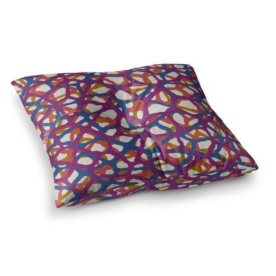 Trebam Staklen Modern Vector Square Floor Pillow Size: 23 x 23, Color: Pink/Blue