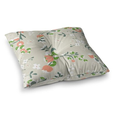 Very Sarie Early Waking Floral Square Floor Pillow Size: 26 x 26